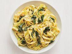 Fettuccine with Creamy Pesto Recipe   Food Network Kitchen   Food Network
