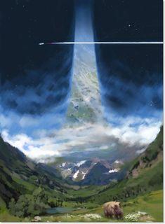 john berkey - ring world John Berkey, Sci Fi Kunst, Science Fiction Kunst, Arte Sci Fi, Sci Fi City, Futuristic City, Fantasy Landscape, Space Travel, Future City