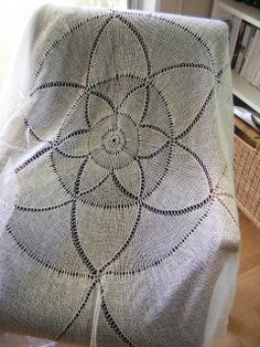 this is so gorgeous - free knitting pattern with lace/2 ply yarn
