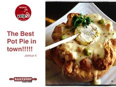 "People Love Us On Yelp...especially our Pot Pies with our signature ""flavor pops"" #potpies #oakland #yelp https://www.bakeshopoakland.com/"