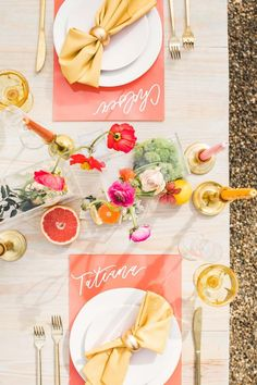 Summer Weddings: 56 Gorgeous, Inspiring Ideas Your Guests Will Love Reception Table, Wedding Table, Party Wedding, Lemonade Wedding, Summer Wedding Decorations, Summer Weddings, Pink Table Settings, Lemon Party, Country Garden Weddings