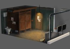 Project Discord - Indie Video Game ~ Toilet Discord, Video Game, Concept Art, Toilet, Indie, Loft, Gallery, Projects, Home Decor