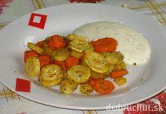 Pečená zelenina na masle s jogurtovým dresingom