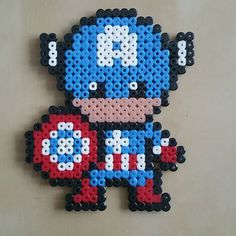 Captain America hama beads by  choupinette4