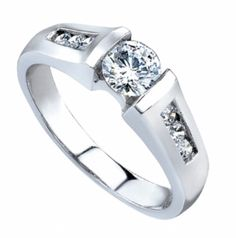 "Love Story 14K White Gold ""Only You"" Diamond Engagement Ring"