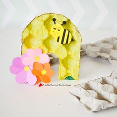 Beehive & Bumble Bee Recycled Egg Carton Craft