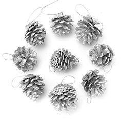 Snow Pinecone Christmas Tree Ornaments Decorative Xmas Home Decor Pineal Gland Merry X Mas Day *** Click image for more details.