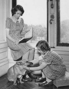 Princess Elizabeth & Princess Margaret, August 1932