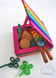 Legend says that if you catch a leprechaun, he has to tell you where he hid his pot of gold. If you're feeling lucky, you might just have the chance to catch a festive friend with this Rainbow Leprechaun Trap. Popsicle Stick Crafts For Kids, Fun Crafts For Kids, Popsicle Sticks, Craft Stick Crafts, Craft Ideas, Craft Sticks, Kids Diy, Ideas Fáciles, Clothespin Crafts