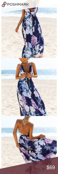 Hello Molly Lovers and Friends Maxi Dress The Lovers And Friends Maxi Dress has a crossover, v-neckline and an adjustable cross strap back and an invisible zip through the back. There is a full, flowy skirt with plenty of volume. Style yours with a lace up heel! Dresses Maxi