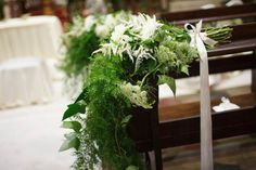 church wedding decor | nature inspired wedding | see more on http://weddingwonderland.it/2014/02/matrimonio-naturale-nella-campagna-milanese.html