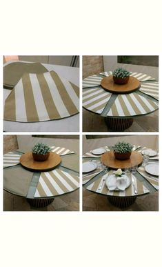 Plaid Tablecloth, Applis Photo, Dining Decor, Table Toppers, Diy Projects To Try, Table Linens, Handmade Crafts, Diy Design, Table Settings