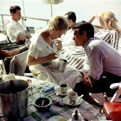 Alain Delon and Romy Schneider 1, 1959.
