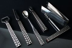 Bar set / Bar tool set / Cocktail set / 1960s / Mid century modern / Vintage barware