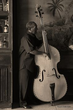 Vintage string bass. Not an instrument for the vertically inhibited.