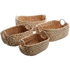 Gibson Ottawa Storage 4-Piece Basket Set, Brown