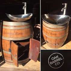 Hand-crafted, one-of-a-kind,  vino-sink.