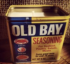 Old Bay Tin Soy Wax Candle by LimeGreenTaxiShop on Etsy