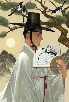 ArtStation - Seonbi, u kyoung An Korean Illustration, Illustration Art, Korean Art, Asian Art, Character Art, Character Design, Boy Art, Traditional Art, Traditional Clothes