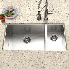 Apron Sink Kitchen, Rustic Kitchen Cabinets, Double Bowl Kitchen Sink, Farmhouse Sink Kitchen, Deep Kitchen Sinks, Stainless Steel Kitchen Cabinets, Kitchen Reno, Kitchen Remodeling, Undermount Sink