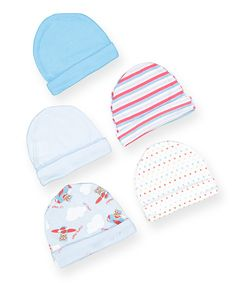 Another great find on #zulily! Light Blue Airplane Five-Piece Beanie Set by Honey Baby #zulilyfinds