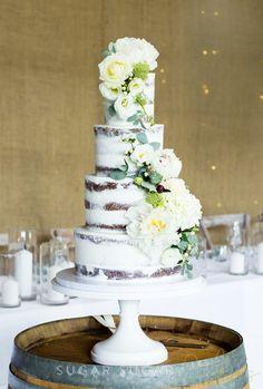 White Semi Naked Cake