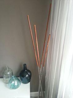 Lamp copper koperbuis en rvs