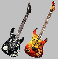 """Kirk hammetts guitars- Dave mustaine once said """"Whoever uses a Floyd, cannot solo."""" And i believe in his words to this day!"""