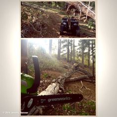 "Jeremy Renner's image - ""Problem? Solution. #wayilive #nature #greenworks #mountainlife"" on WhoSay"