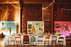 Ensure that all your eclectic décor is arranged just so. | 27 Simply Lovely Wes Anderson-Inspired Wedding Ideas