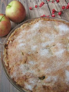 Salted Caramel Apple Pie.  This is SO good and makes the perfect dessert for Thanksgiving or Christmas!