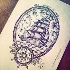 Image result for lighthouse and compass tattoo