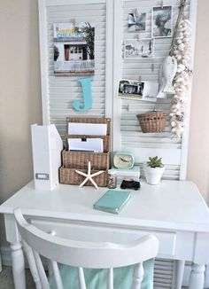 I've been planning on using those shutters...have sooo many good ideas...this one might work too!
