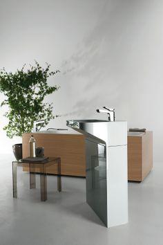 LAB 02 #washbasin + GEO BOX #bathtub designed for Kos | #Palomba #bathroom #design