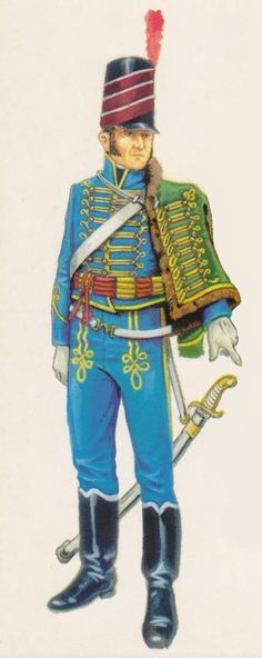 Húsares de San Narciso 1808, part of the Spanish army at the Battle of Cardedeu who fought the French, one of the many battles of the Peninsular War.