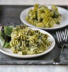 Recipe: Double Spinach Pasta Casserole with Pesto & Asiago Cheese