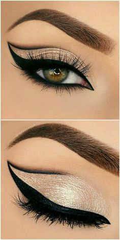 Eyeliner Models Beautiful eye make-up for impressive looks - . - Eyeliner Models Beautiful eye make-up for impressive looks – make up - Eyeliner Hacks, Makeup Hacks, Makeup Goals, Makeup Inspo, Makeup Inspiration, Eyeliner Makeup, Eye Brows, Eyeliner Styles, Drugstore Makeup