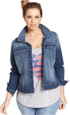 a80e60b8f644a Plus Size Denim Jacket Curvy Fashion