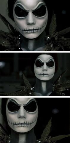 Awesome Jack Skellington makeup