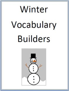 Winter Vocabulary Builders from Mary Bauer on TeachersNotebook.com -  (13 pages)  - This is the second pack of the Seasonal Word Sort Series.  Included are four winter word sorts, a Christmas word sort, two sorting sheets, and directions for writing four forms of poetry.  $