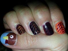 My Thanksgiving nail art! Thanksgiving Nail Art, Nail Stuff, Cute Nail Designs, Cute Nails, Art Ideas, Hair Styles, Check, Beauty, Food