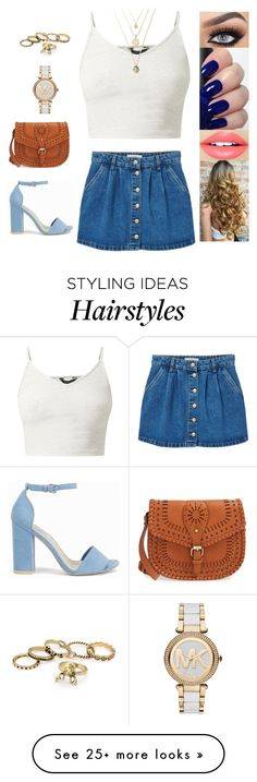 """""""Untitled #3800"""" by sigalv on Polyvore featuring Fiebiger, MANGO, Michael Kors, Sole Society and Nly Shoes"""