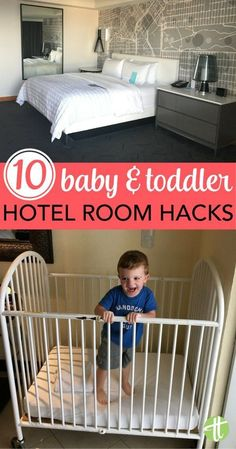 10 Hotel Room Hacks for Traveling with Babies & Toddlers Traveling with a baby or toddler? Hack your hotel stay with with these simple tips and tricks.Traveling with a baby or toddler? Hack your hotel stay with with these simple tips and tricks. Toddler Vacation, Toddler Travel, Travel With Kids, Baby Travel, Family Travel, Family Trips, Family Vacations, Hotel Hacks, Hotels For Kids