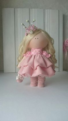Princess doll Handmade doll Nursery doll Tilda doll Fabric doll Pink doll Cloth doll Baby doll Rag doll Interior doll Textile doll by Elvira __________________________________________________________________________________________ Hello, dear visitors! This is handmade cloth