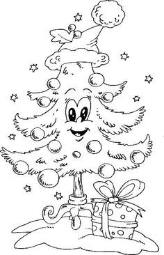 Coloring Page See More Christmas Tree