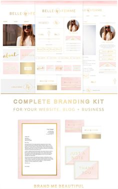 ULTIMATE Branding Kit  Blog Kit  Website by BrandMeBeautiful