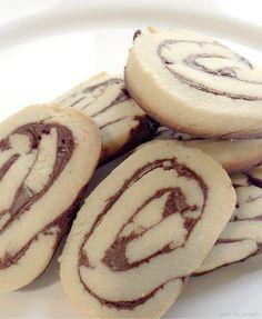 Espirales de galleta y chocolate