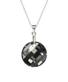 Look what I found on #zulily! Silver Night Swarovski® Crystal Round-Cut Pendant Necklace #zulilyfinds