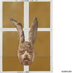 The Journey (Psychogram in 360 Collages) -- Part 1: The half Journey -- *Die langsamen Toten (1) – Window Hare* Collage 171 from 360 // www.marcelbuehler.com/