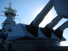 Gun house USS North Carolina (BB55)